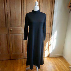 TRAVELSMITH Black Turtleneck Maxi Dress (MP)